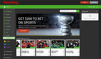 Bodog sportsbetting screenshot