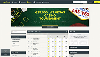Super Lenny sportsbook screenshot